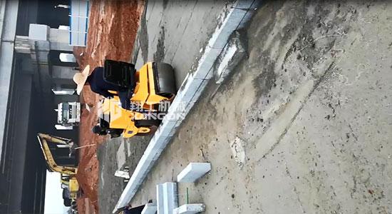 广东阳江座驾压路机施工案例